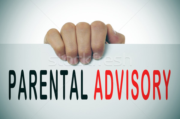 parental advisory Stock photo © nito