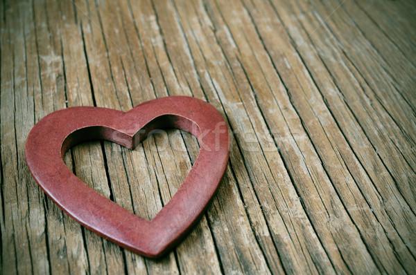 Holz Herz Oberfläche filtern Wirkung rustikal Stock foto © nito