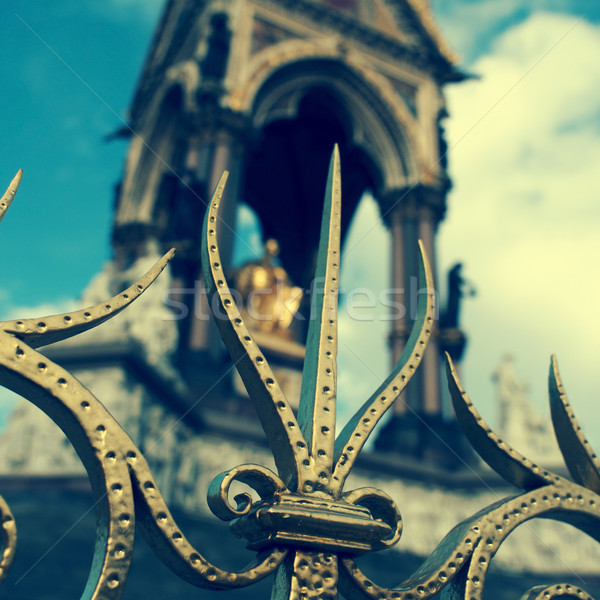 Albert Memorial in London, United Kingdom, with a filter effect Stock photo © nito