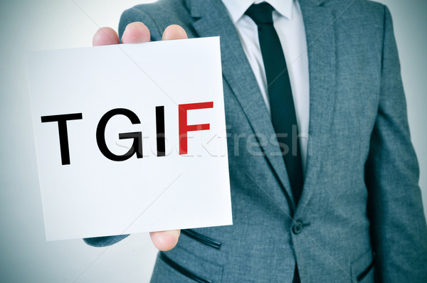 TGIF, Thanks God It is Friday Stock photo © nito