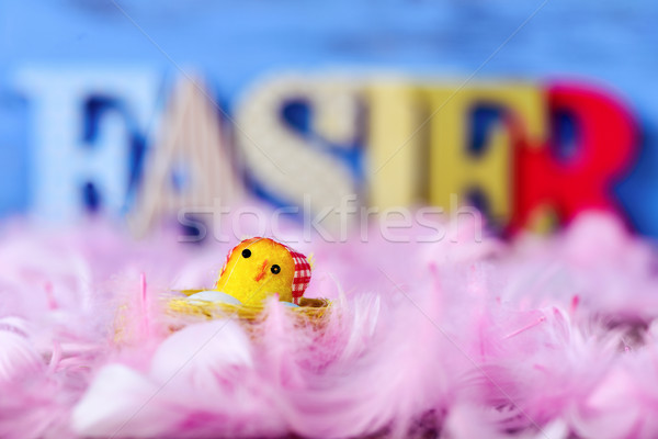Oyuncak civciv kelime Paskalya Stok fotoğraf © nito