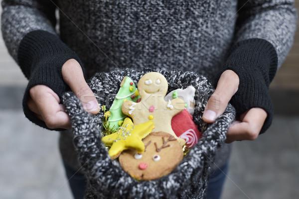 Adam Noel kurabiye genç kafkas Stok fotoğraf © nito