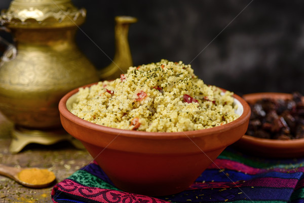 Сток-фото: набор · таблице · чаши · типичный · арабских