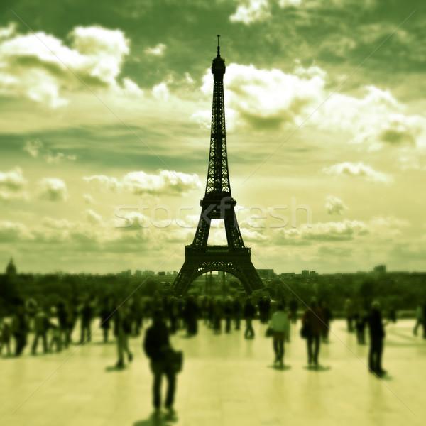 the Eiffel Tower in Paris, France Stock photo © nito