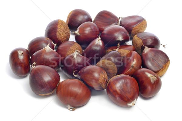 Voedsel vruchten Rood najaar witte Stockfoto © nito