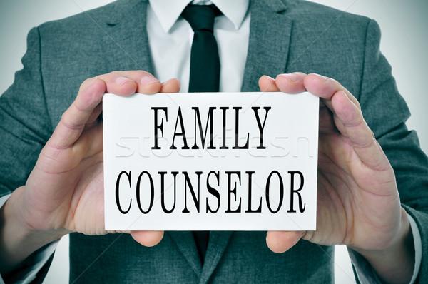 Família conselheiro homem terno sessão Foto stock © nito
