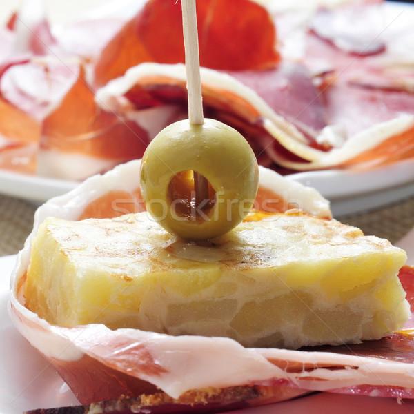 Espanhol tortilla serrano presunto bar Foto stock © nito