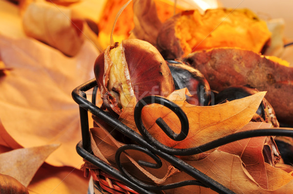 roasted chestnuts and roasted sweet potatoes Stock photo © nito