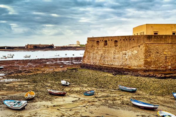 Foto stock: Castillo · playa · España · vista