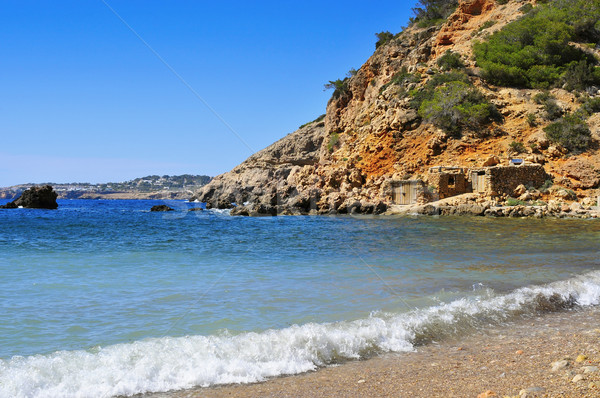 lonely cove in Ibiza Island, Spain Stock photo © nito
