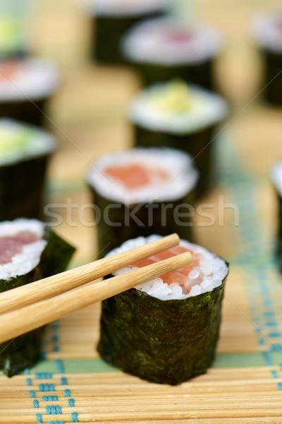 Assortiment différent avocat thon saumon Photo stock © nito