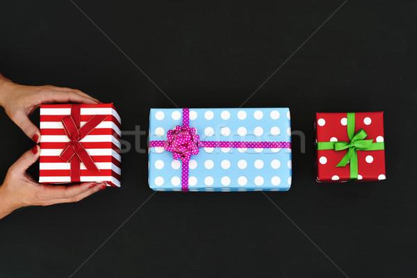 若い女性 贈り物 ショット 小さな 白人 女性 ストックフォト © nito