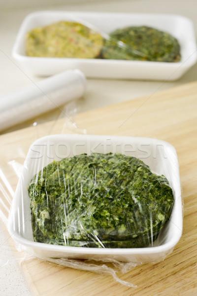 Nyers közelkép különböző műanyag fedett csomagolás Stock fotó © nito