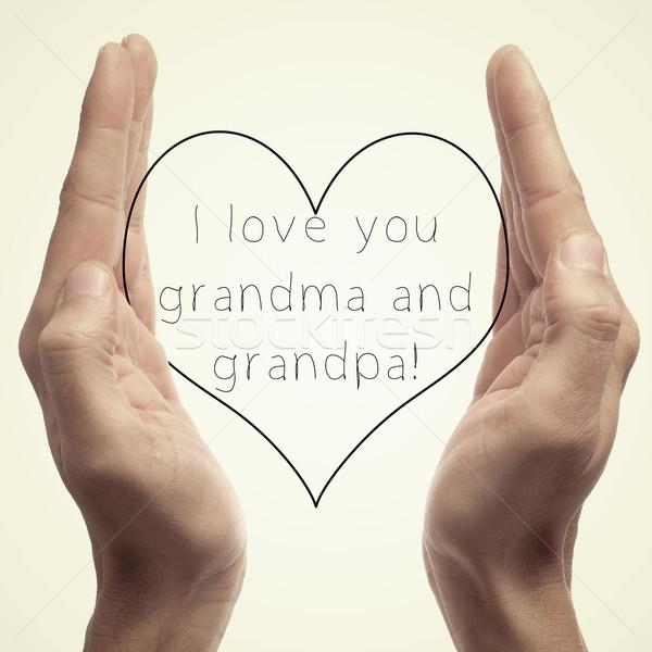 Amor avó avô alguém Foto stock © nito