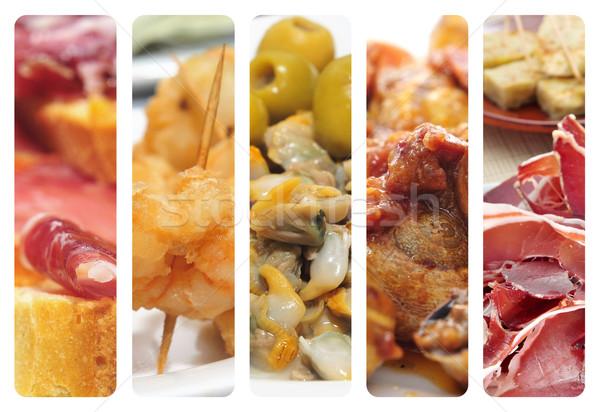 spanish tapas collage Stock photo © nito