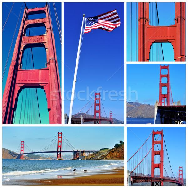 Golden Gate Bridge colagem diferente fotos San Francisco Estados Unidos Foto stock © nito