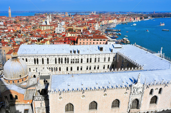 aerial view of San Marco and Castelo districts in Venice, Italy Stock photo © nito