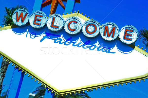 Welcome to Fabulous blank space sign Stock photo © nito