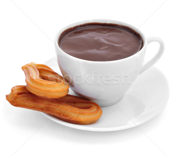 Chocolat typique espagnol sweet casse-croûte blanche Photo stock © nito