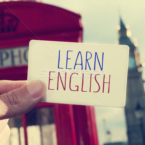 文字 学ぶ 英語 ビッグベン 手 男 ストックフォト © nito