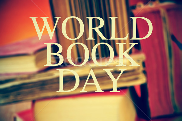 old books and text world book day Stock photo © nito