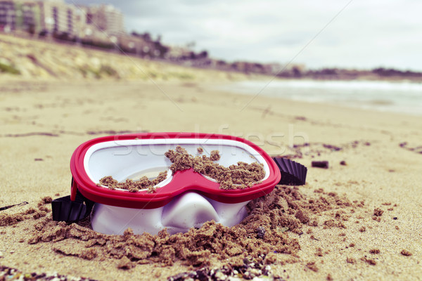 abandoned diving mask on the beach Stock photo © nito