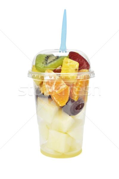 フルーツサラダ プラスチック カップ 使い捨て 白 オレンジ ストックフォト © nito
