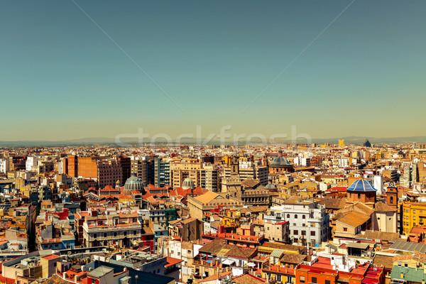 Légifelvétel Valencia Spanyolország katedrális kupola központi Stock fotó © nito