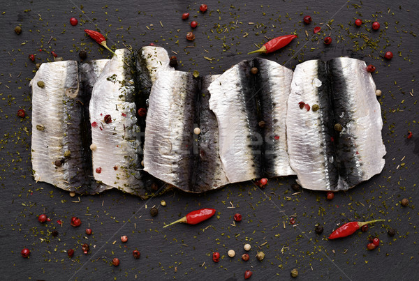 raw sardine fillets Stock photo © nito