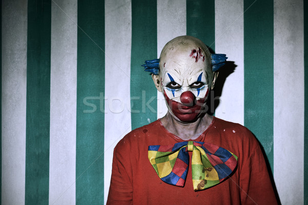 Scary male clown circo primo piano indossare Foto d'archivio © nito