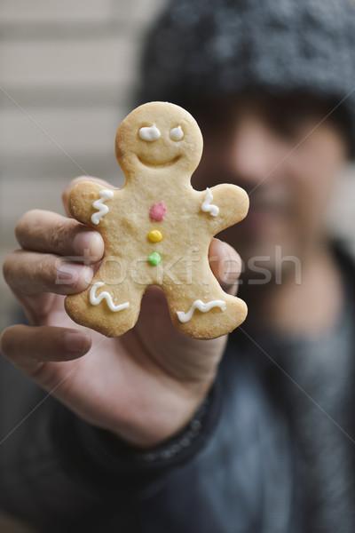 Adam gingerbread man genç kafkas Stok fotoğraf © nito