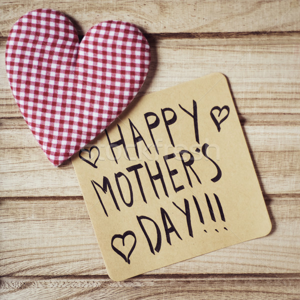 text happy mothers day in a note Stock photo © nito
