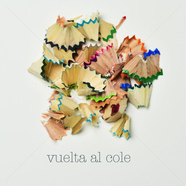 text vuelta al cole, back to school in spanish Stock photo © nito
