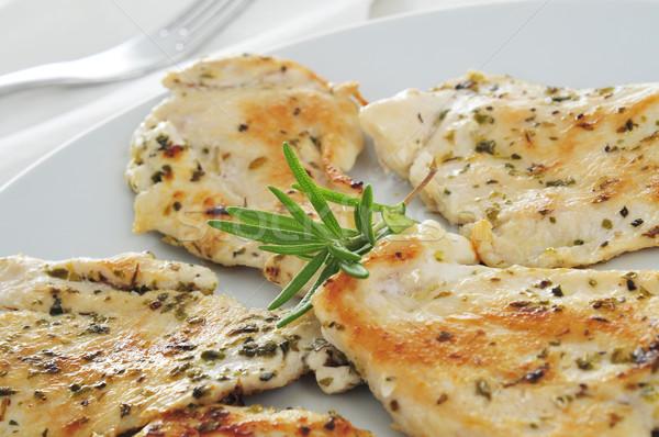Frango grelhado prato comida saúde frango Foto stock © nito