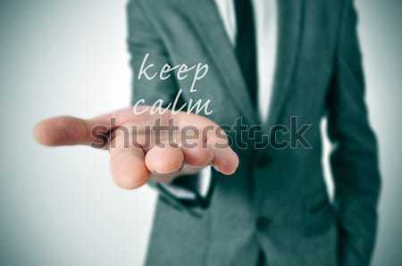 man in suit offering to shake hands Stock photo © nito