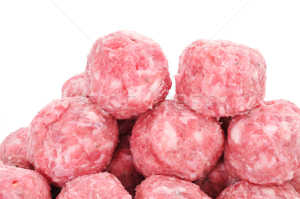 raw meatballs Stock photo © nito