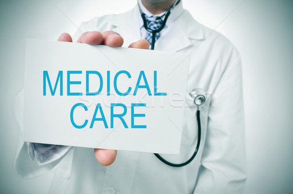 медицинская помощь врач текста написанный служба Сток-фото © nito