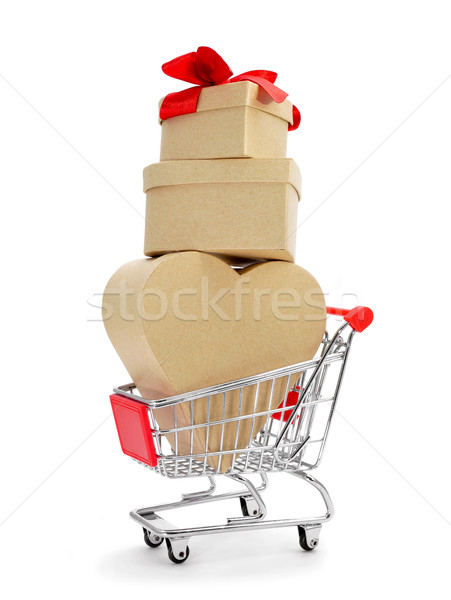 gift in a shopping cart Stock photo © nito