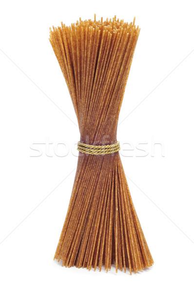 Nyers teljeskiőrlésű búza spagetti közelkép köteg konyha Stock fotó © nito