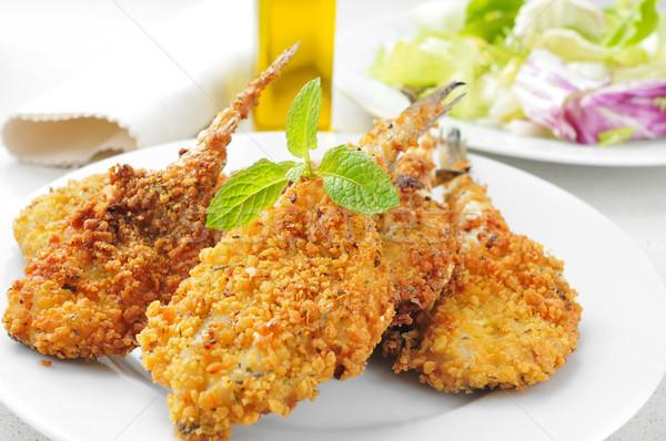 breaded and fried hakes Stock photo © nito