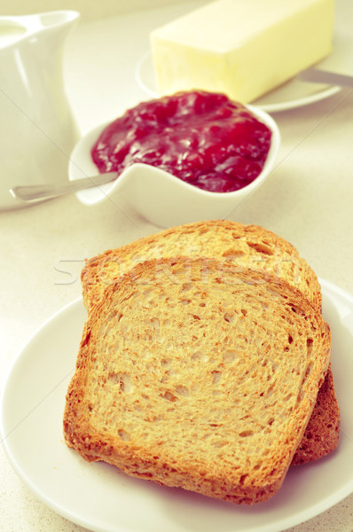 bread, jam and butter Stock photo © nito