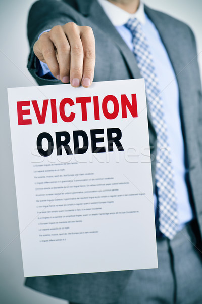 man with an eviction order Stock photo © nito