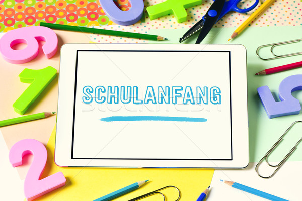 text Schulanfang, back to school in german Stock photo © nito