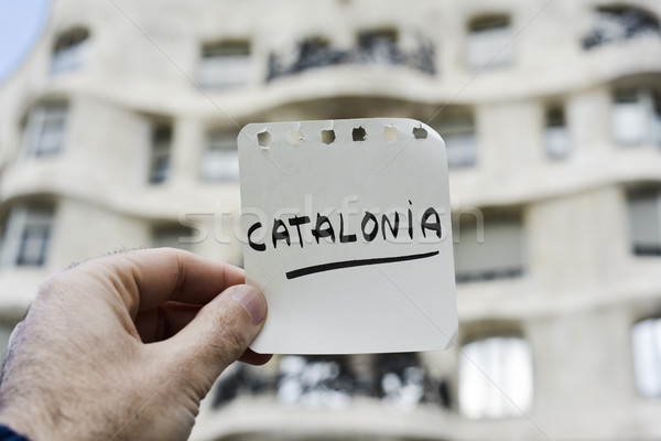 word Catalonia in a note Stock photo © nito