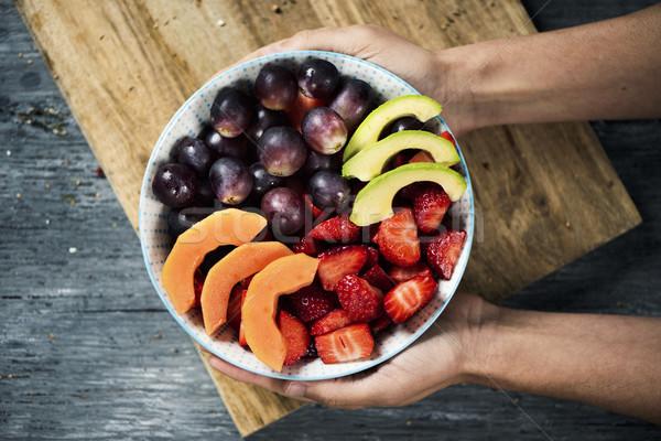 フルーツサラダ セラミック ボウル 表示 白人 ストックフォト © nito