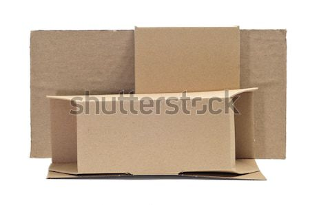 cardboard boxes and corrugated cardboard Stock photo © nito