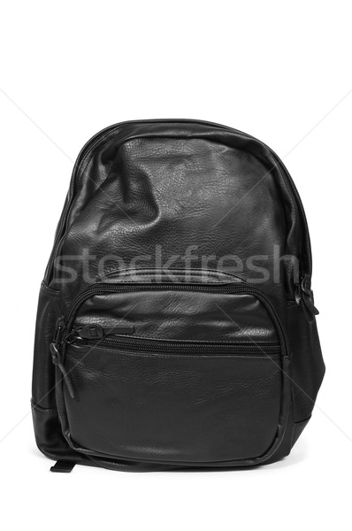 black leather backpack Stock photo © nito
