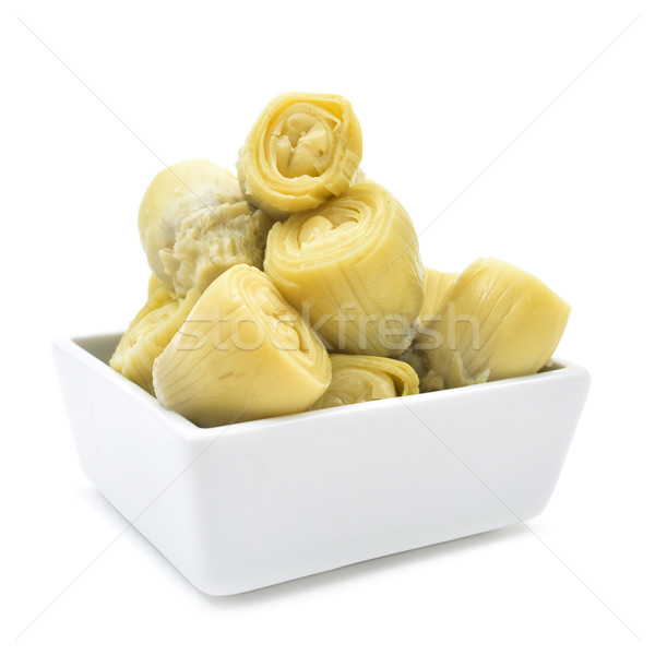 マリネ 心 長方形の 白 ボウル 食品 ストックフォト © nito