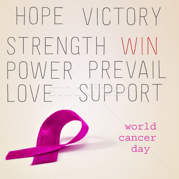pink ribbon for the world cancer day Stock photo © nito
