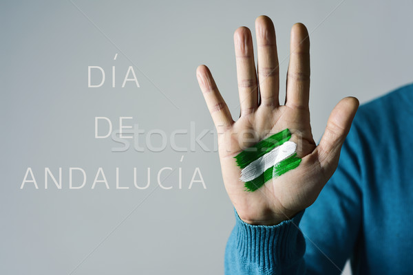 Dia de Andalucia, Day of Andalusia in Spanish Stock photo © nito